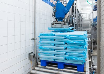 ROBOT PALLETIZER FROZEN BLOCKS